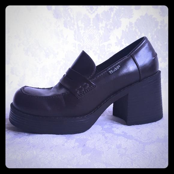 70beb1b9284 90 s Mudd Chunky Heel Platform Penny Loafer. M 5b15d1bcc61777694cc2d855.  Other Shoes ...